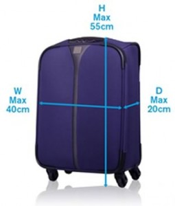 lightweight suitcase size